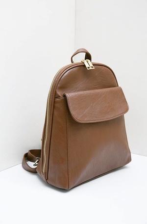 Gloyy Julian Flap Front Pocket Backpack Coffee e17185ed38