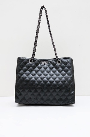 Swilla Julian Quilted Tote Bag Black