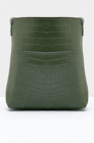 Trivy Octarina Mock Croc Sling Bag Green 63d1e6cf76