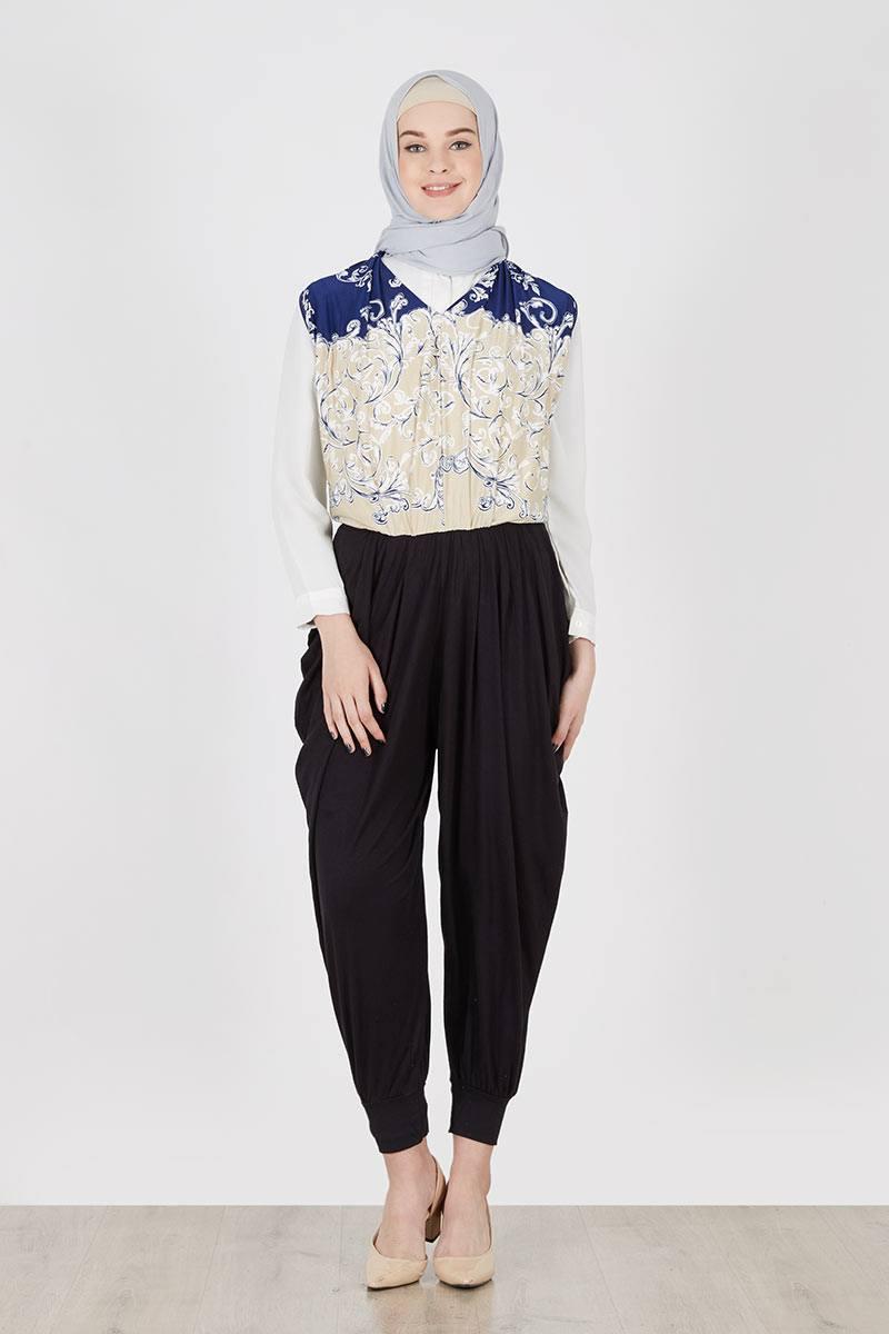 Sell Jumpsuit Batik Helena Navy Dresses And Mukena