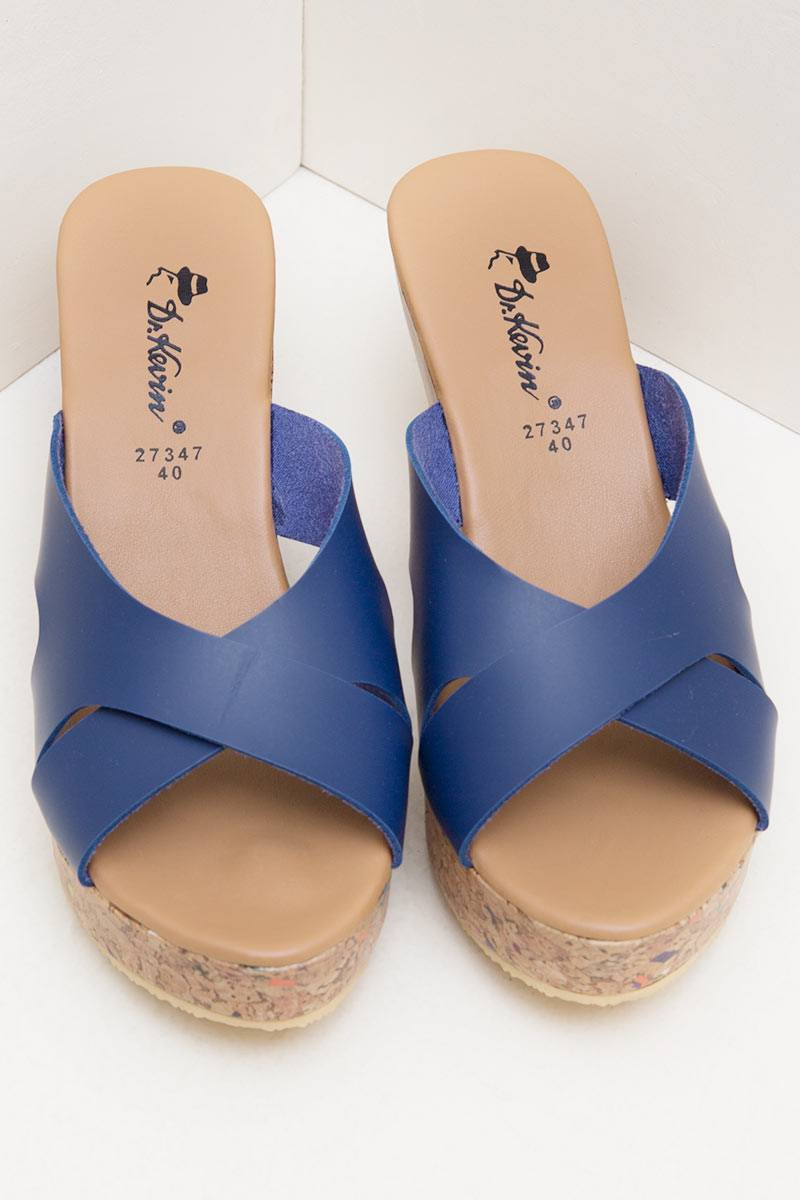 Drkevin Women Wedges Sandals 27347 Tan Daftar Harga Terbaik Dr Kevin 27375 Blue Biru 38 Womens Leather