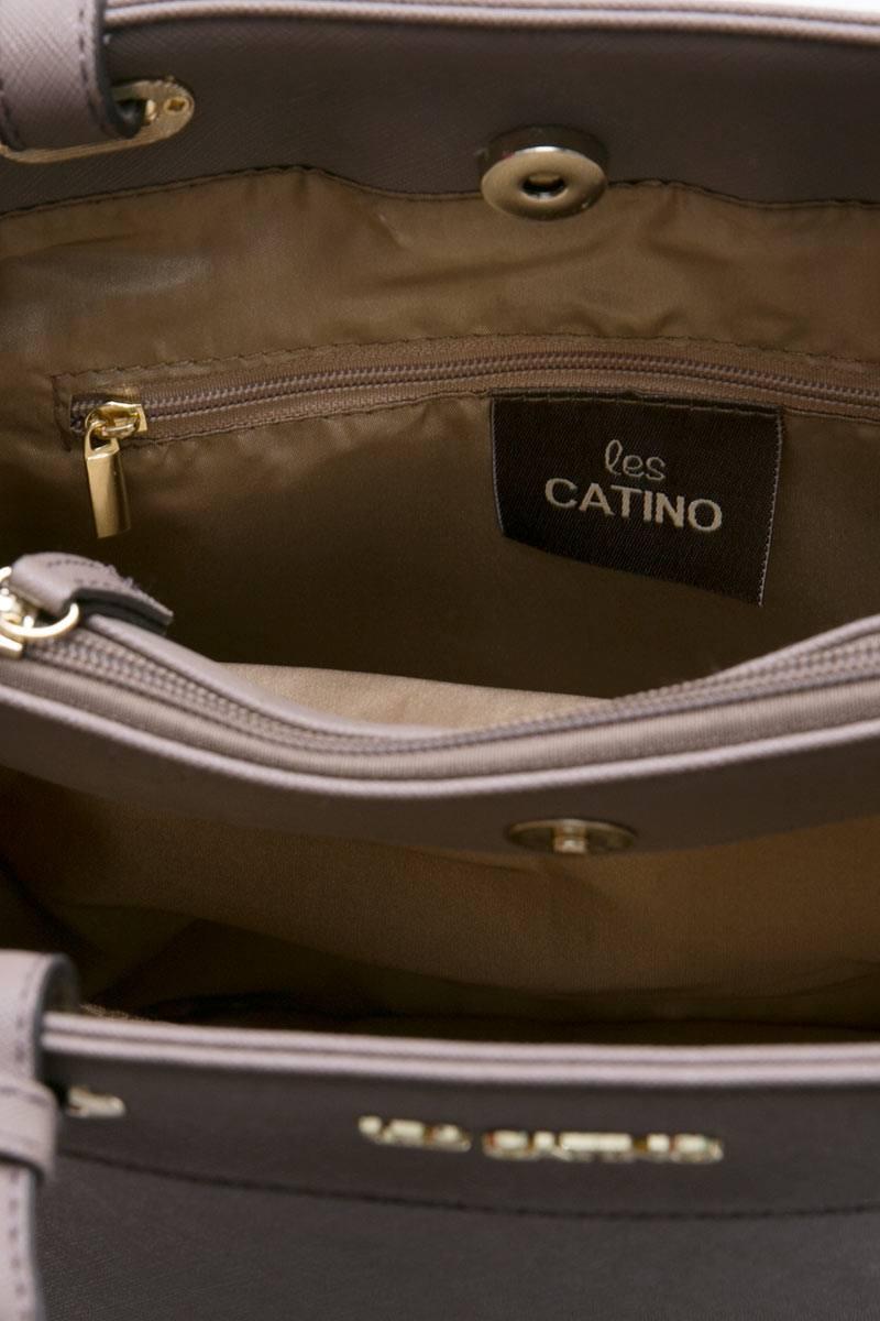 Les Catino Fay Satchel Solid Taupe Hand Bag Referensi Daftar Harga Monogram S Adobe Rose Cocoa Brown Ol