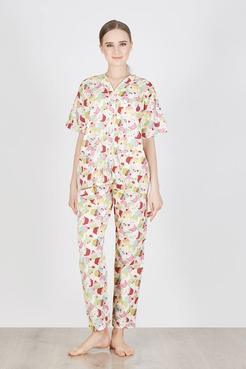 Sell Cavian Long Pajamas In Cream Nightwear Tas Edberth