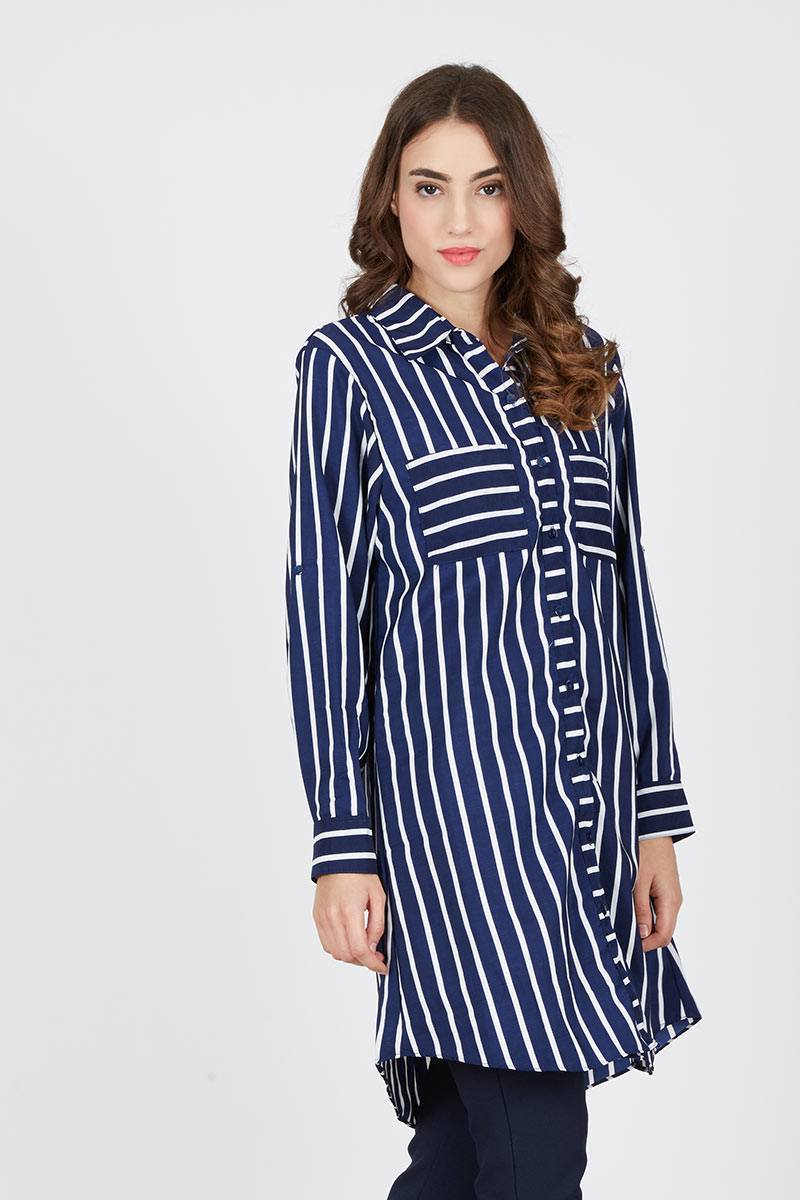 Harga Azkia Tunic Termurah 2018 Sell Wg Stripes Navy White Women Shirts Berrybenkacom 1