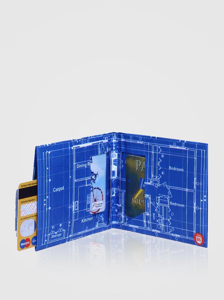 Sell little big blueprint paper wallet fun shopdeca malvernweather Gallery