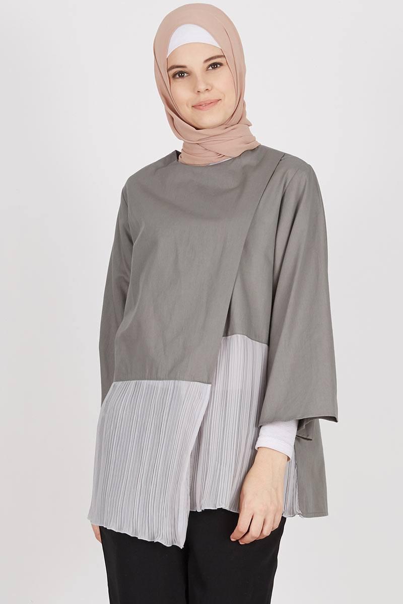 Zania Top Dark Grey