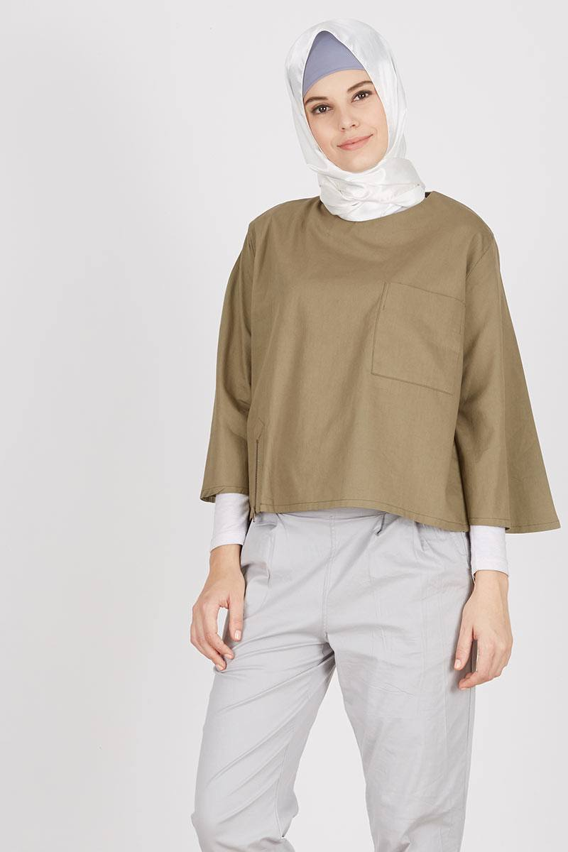 Mika Top Olive