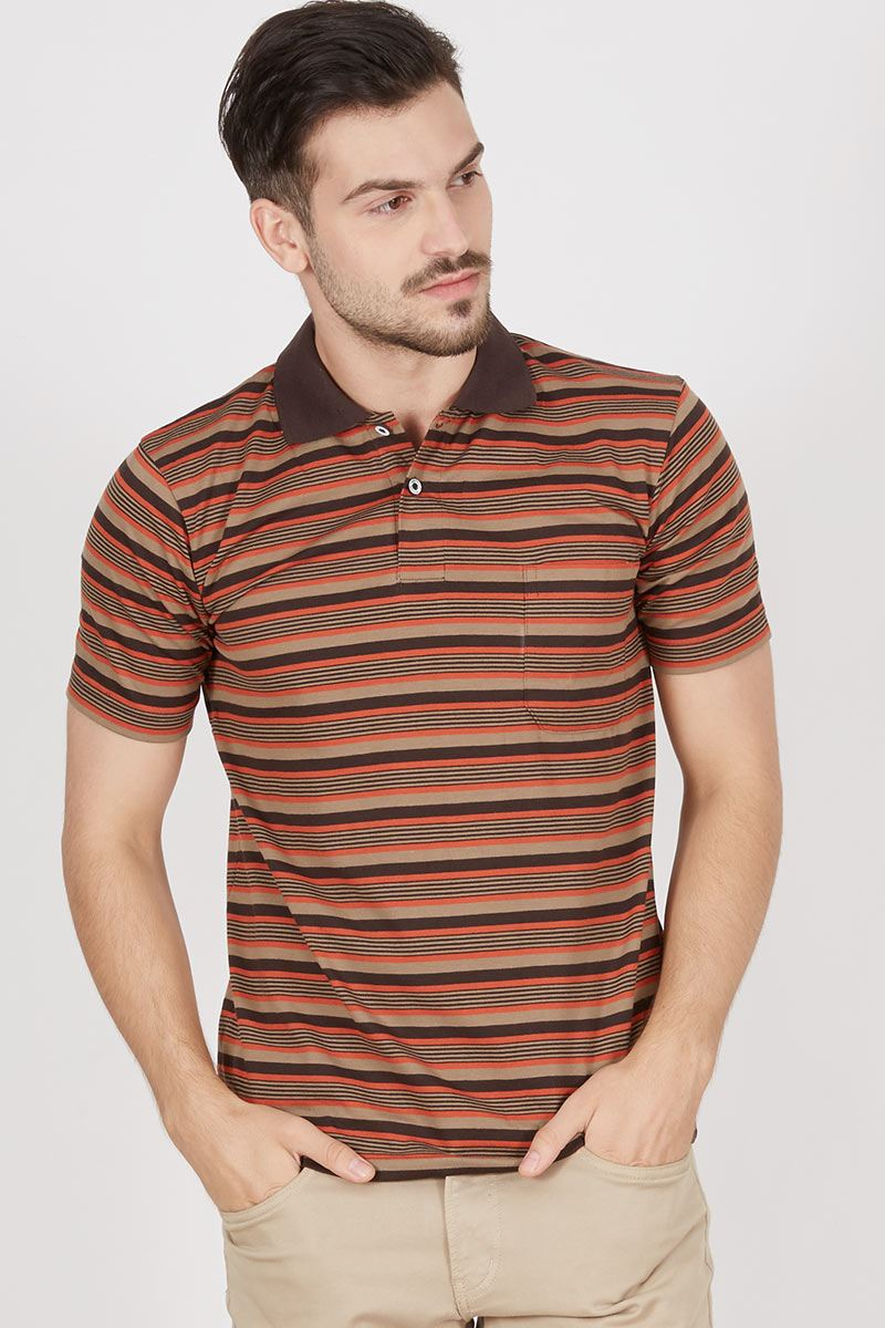 Noxy Stripe Polo Shirt Black