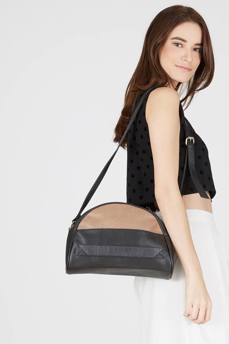 117844 racey slingbag black taupe black kviby