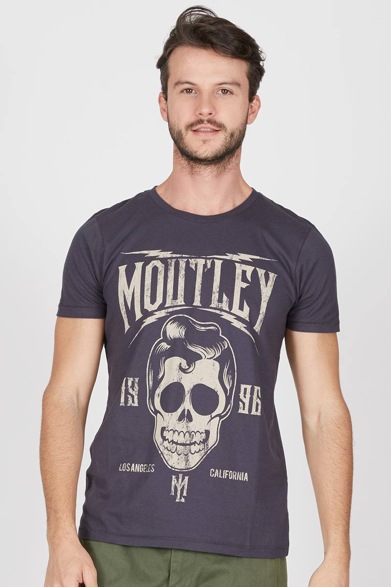 Skull headphone print tee 305051612