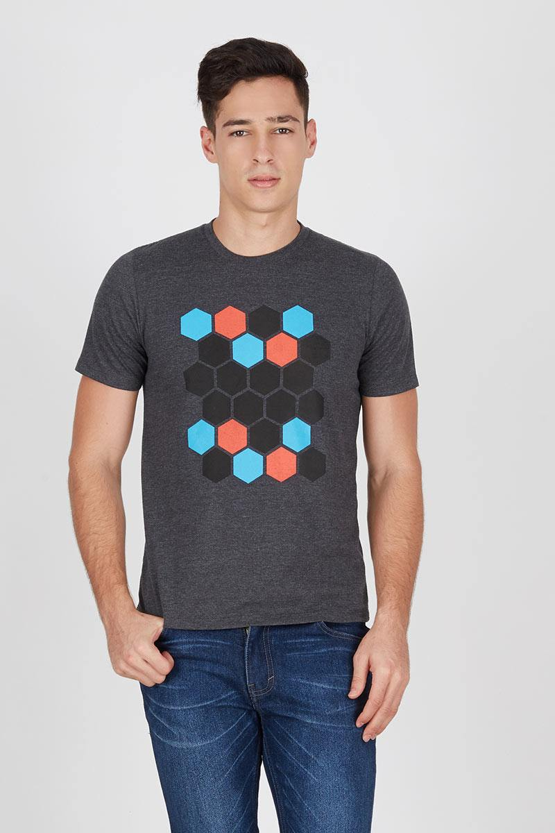 Men Beehive T-Shirt In Dark Misty