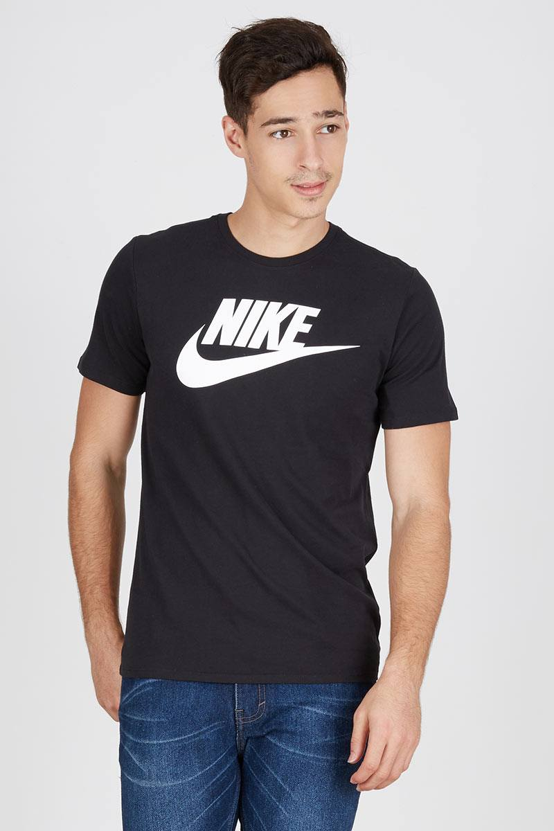Men Futura Icon Tshirt Black
