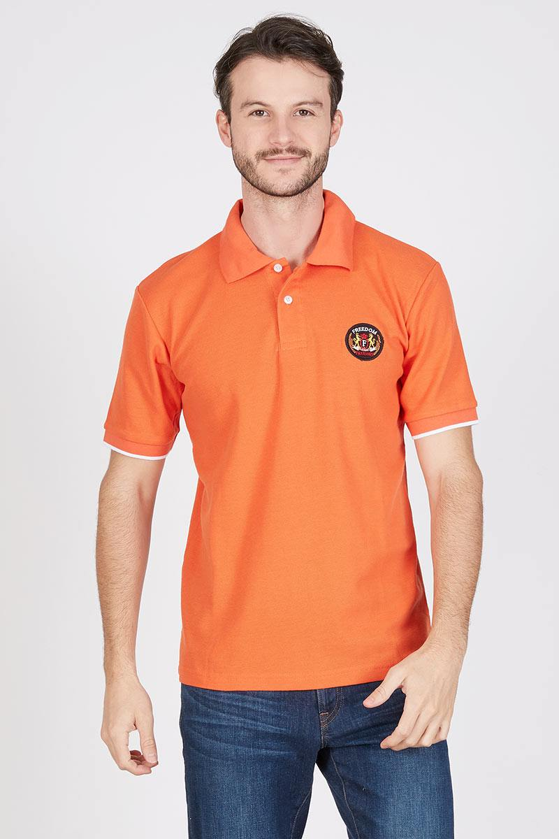 Men Dive Polo Shirt in Orange