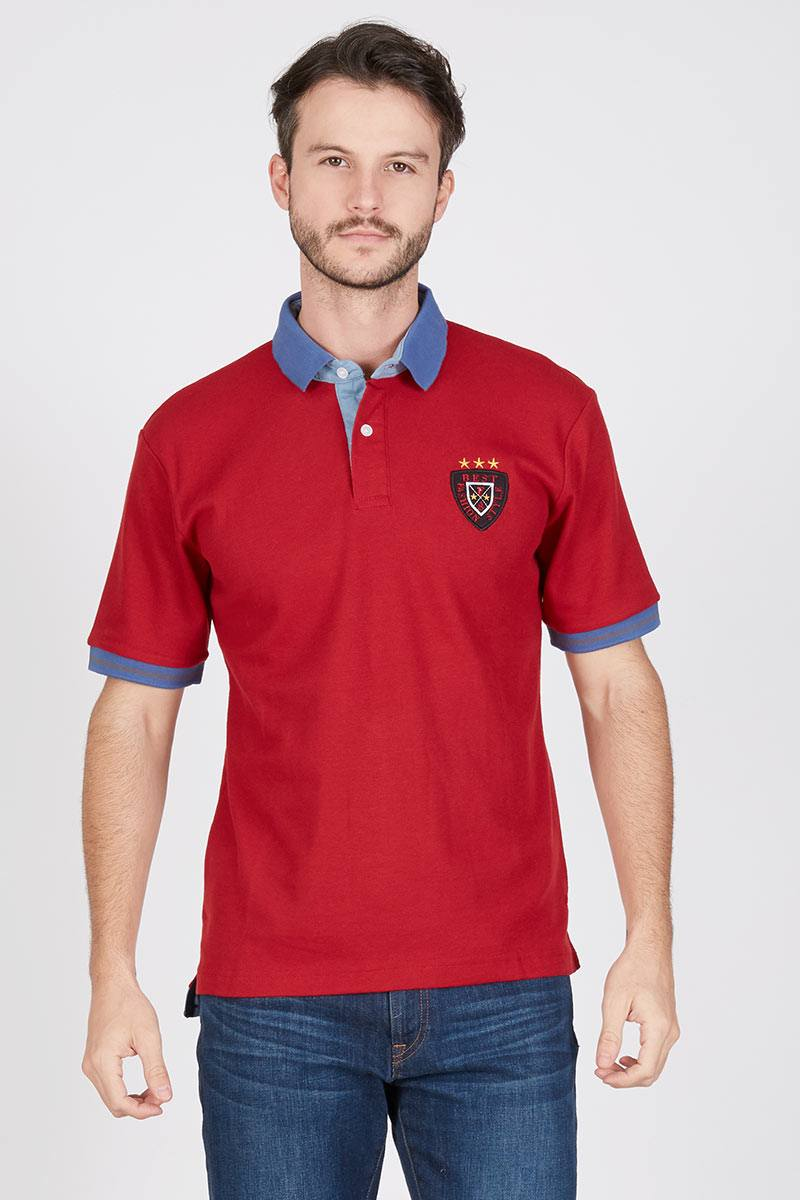 Men Orlan Polo Shirt in Maroon