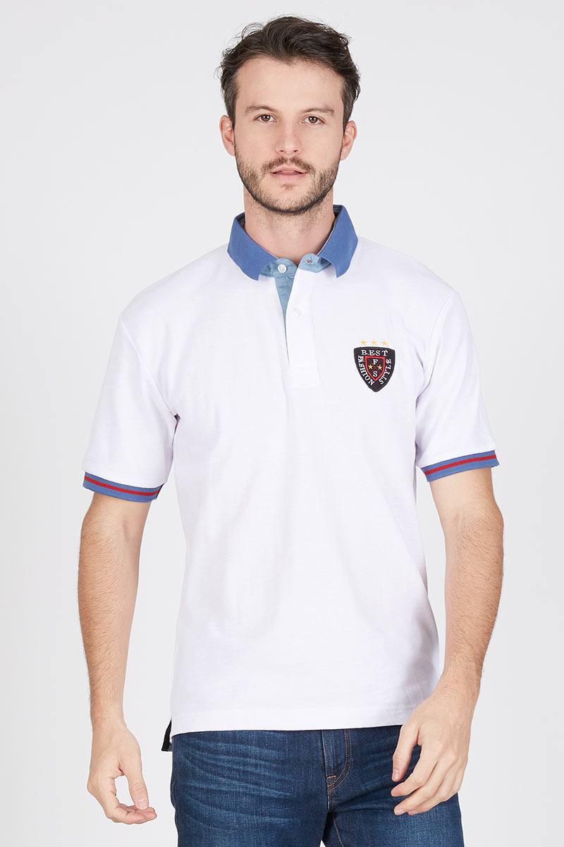 Men Orlan Polo Shirt in White