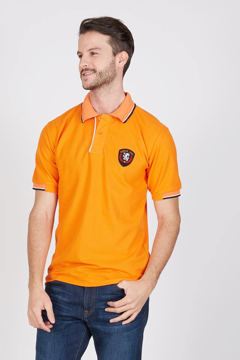 Men Genta Polo Shirt in Orange