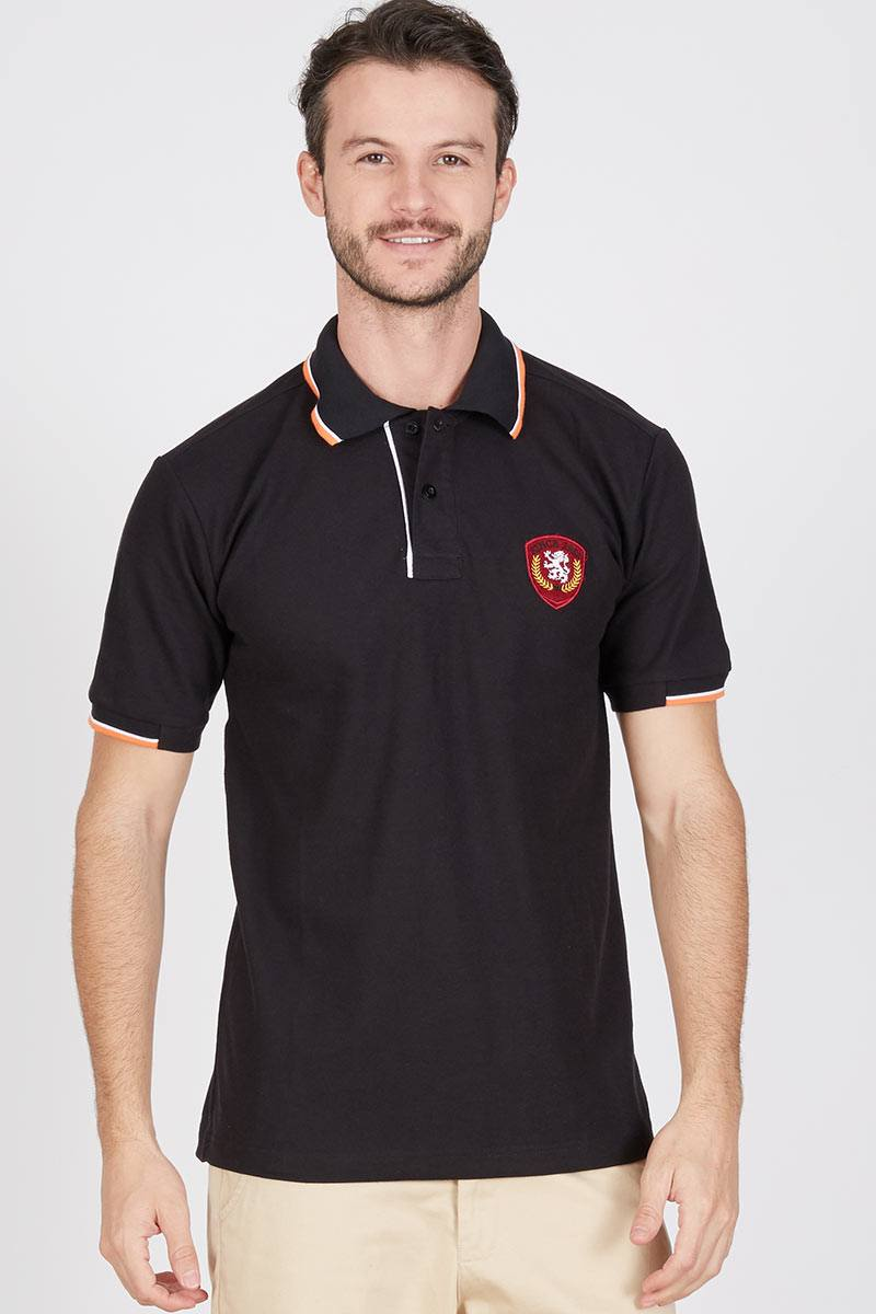 Men Genta Polo Shirt in Black
