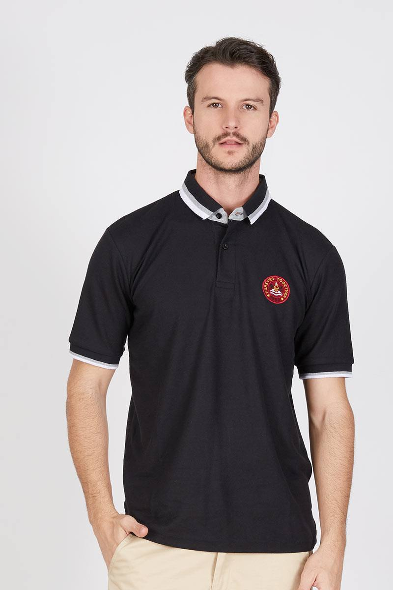 Men Mono Polo Shirt in Black