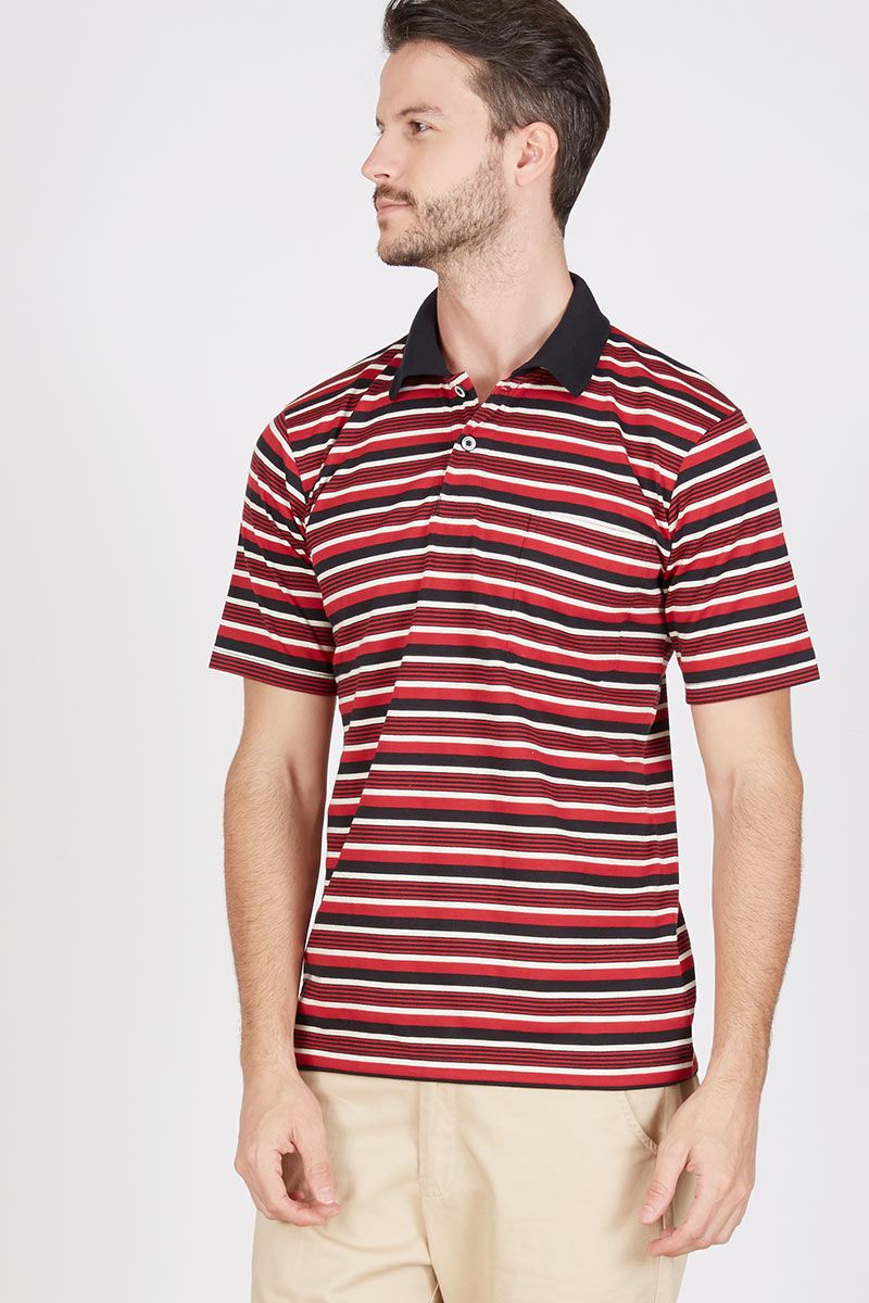 Men Tobu Polo Shirt in Maroon