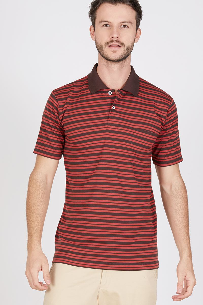 Men Brath Polo Shirt in Brick