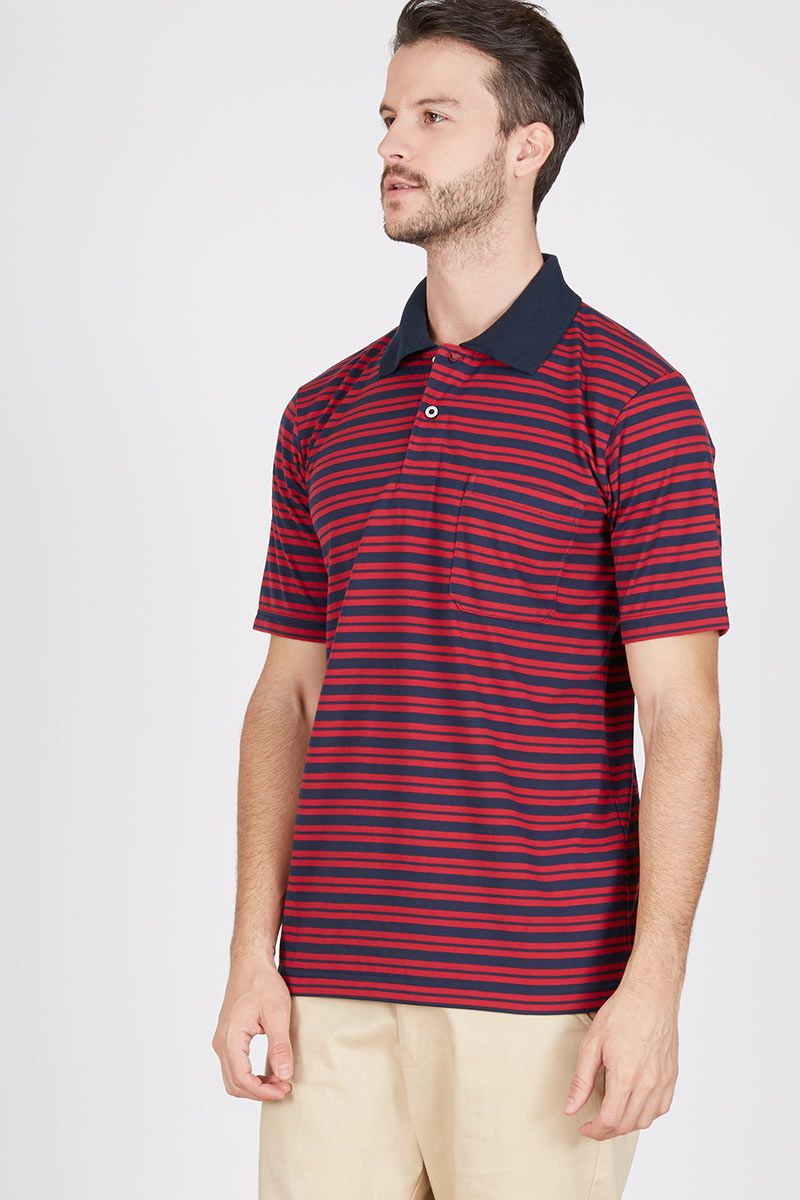 Men Brath Polo Shirt in Navy