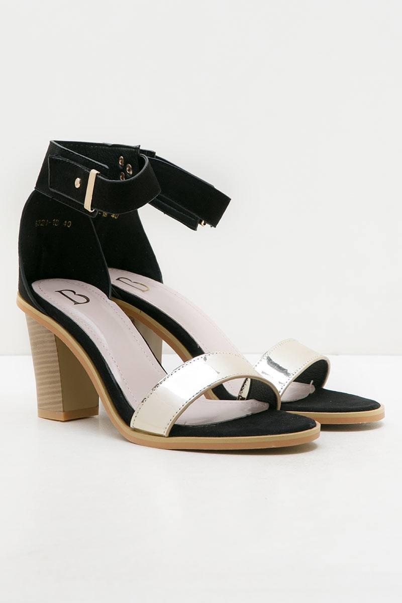 Paulette Heels BLACK-GOLD