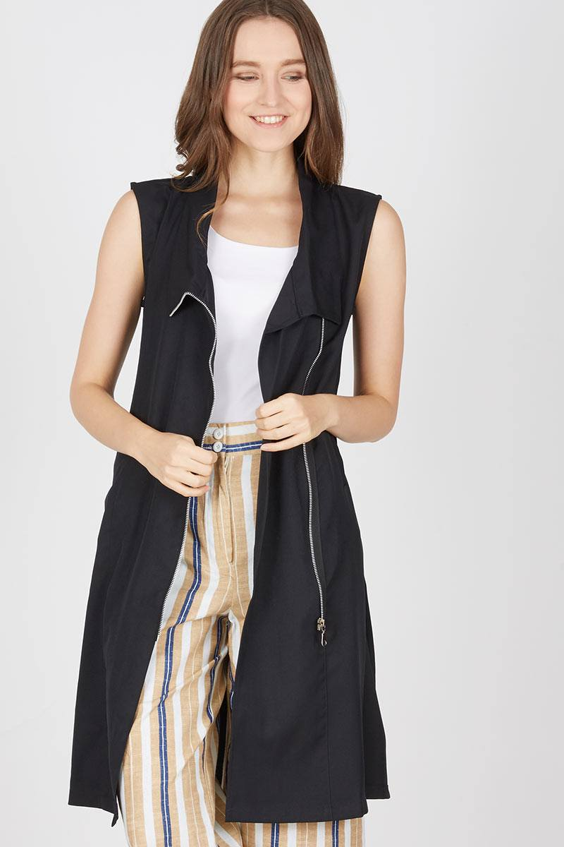Harga Felicia Black Zip Outer Produk Ukm Bumn Jaket Catenzo Fleece