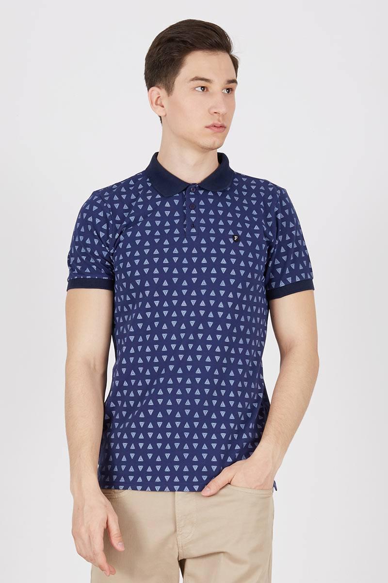Triangle printed polo shirt 511091612