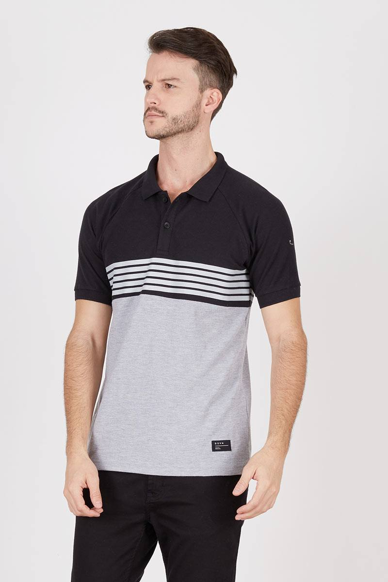 Men Krueger Polo Misty Grey