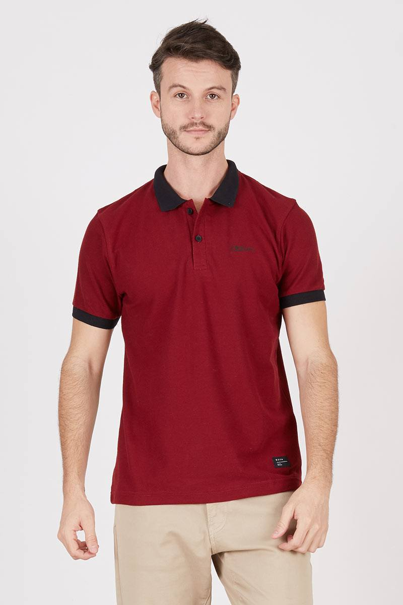 Men Parker Polo Maroon
