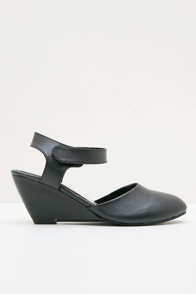Mary Jane Black Wedges