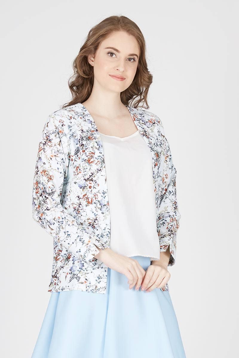 Harga Iris Off White Basic Blazer Produk Ukm Bumn Jaket Catenzo Fleece