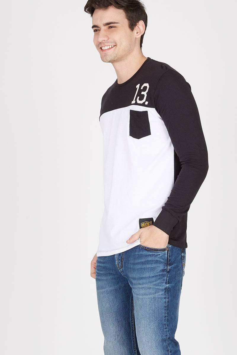 Men Lucky Number Tshirt Black