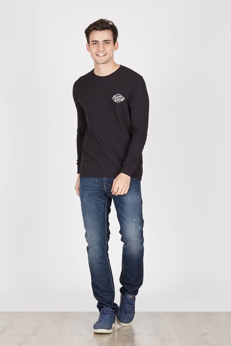 Men Italic Logo Tshirt Black