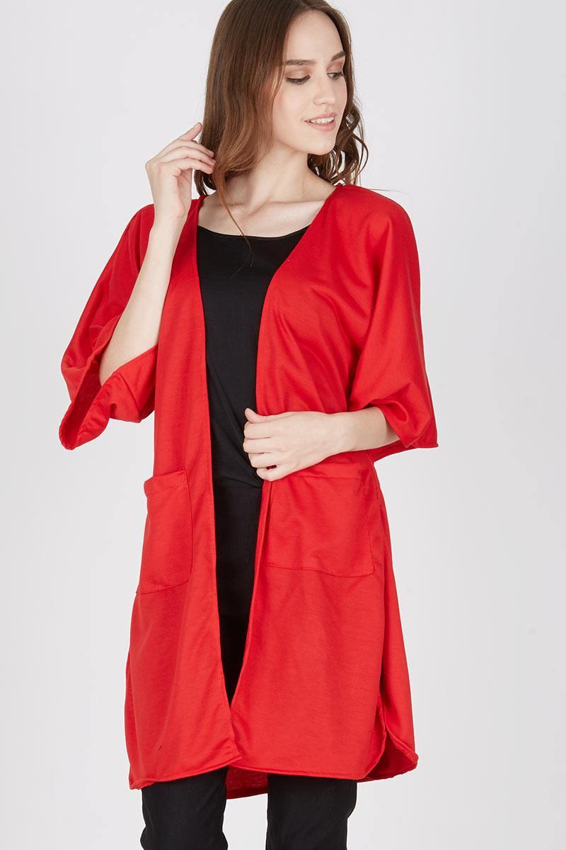 Harga Kiyomi Stelan Baju Pendek Dan Celana Kulot Babysitter Merah 3 4 Berlengan Batik Print Spt002 01 Ladisa Long Kimono Outer
