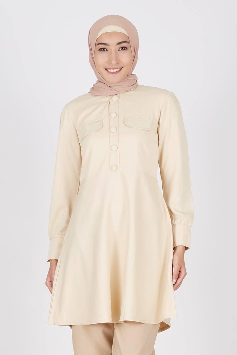 Hezala Cream Dress