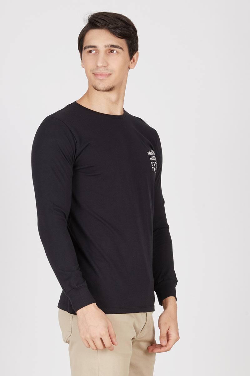 Men Dragnet division Media social T-shirt Black