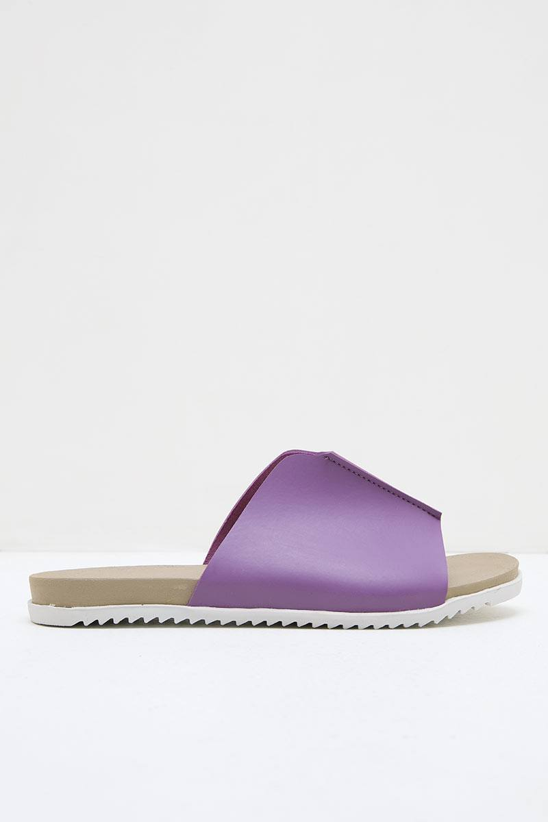 Women Leather 27330 Slip Ons Espadrilles Sandals Purple