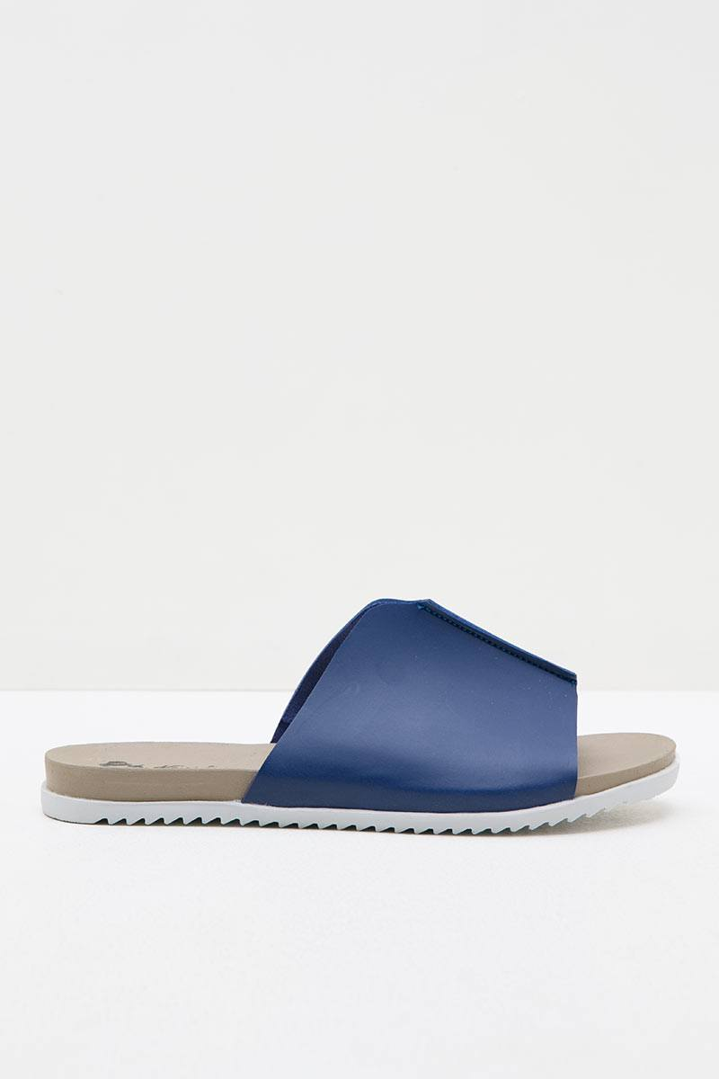Women Leather 27330 Slip Ons Espadrilles Sandals Blue