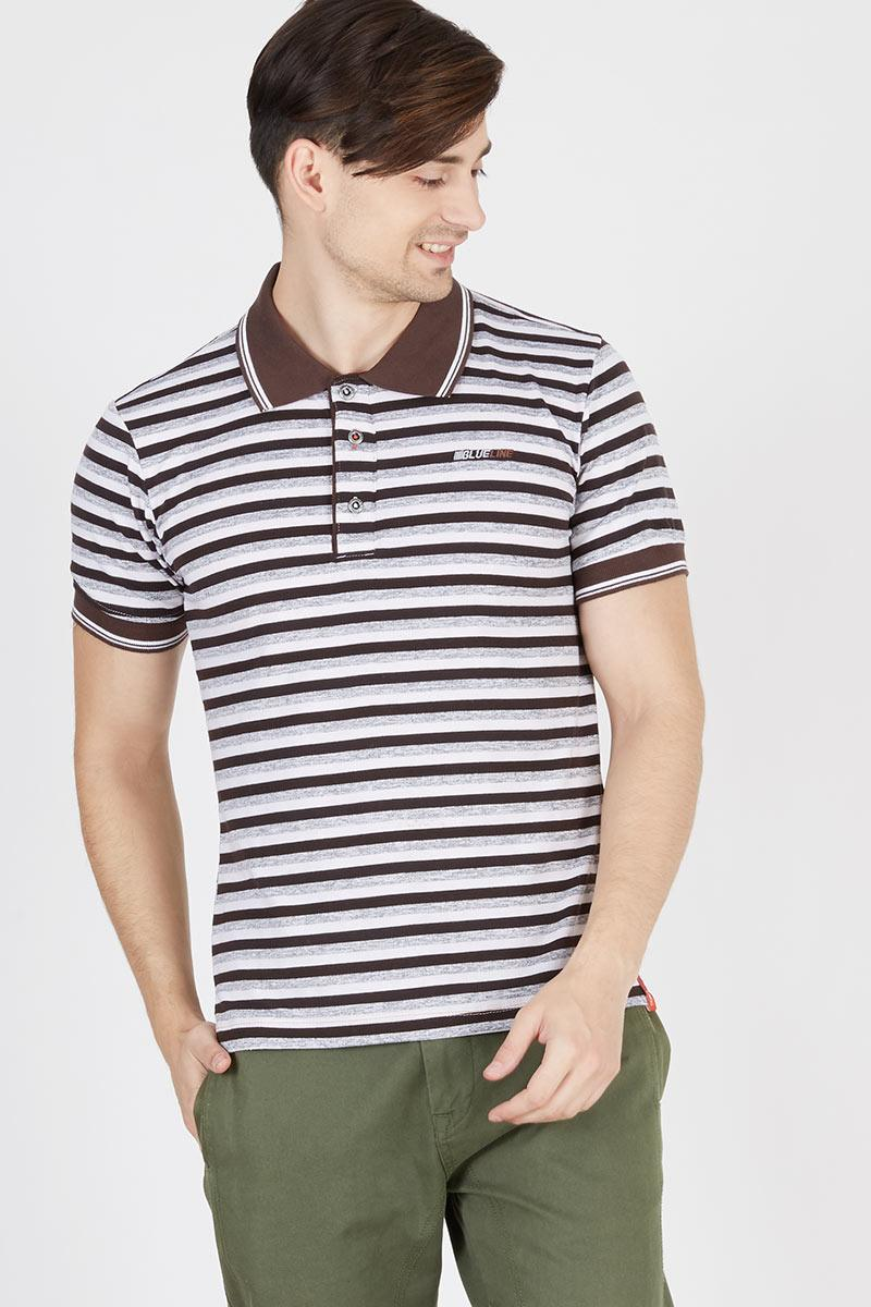 Men Azhar T Shirt White Stripe