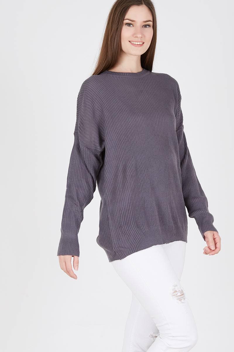 Harga Boxy Sweater In Dark Grey Long Maroon Parka Sj0013