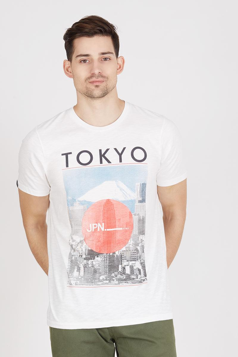 Fuji printed basic tee 505121612