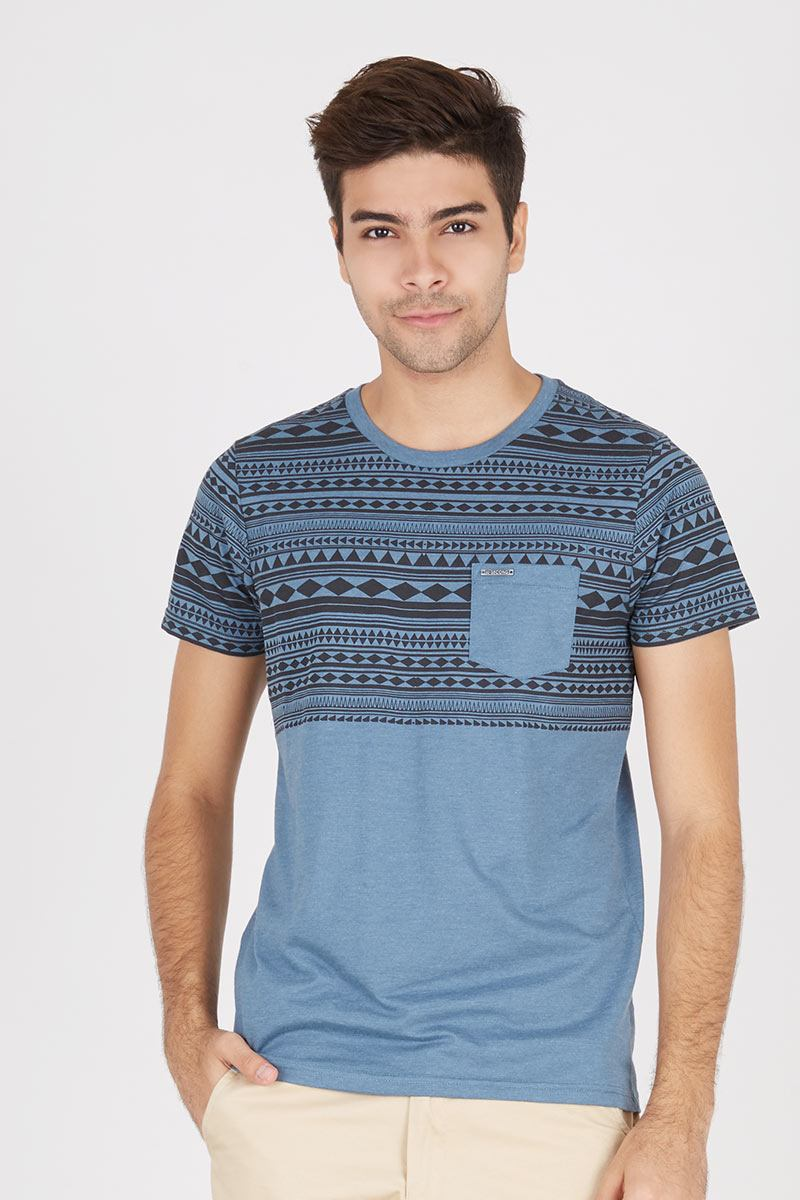Ethnic pocket basic tee 104121612