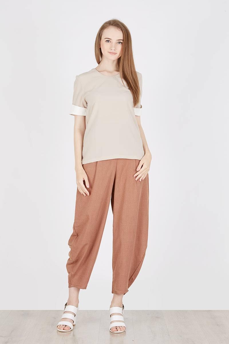 Just Mom Baju Menyusui Manset Aisha Khaki Daftar Harga Terlengkap Inner Viola Grey Vl107 Abu Muda Xl Top