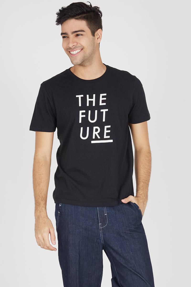 Men T-Shirt The Future Black