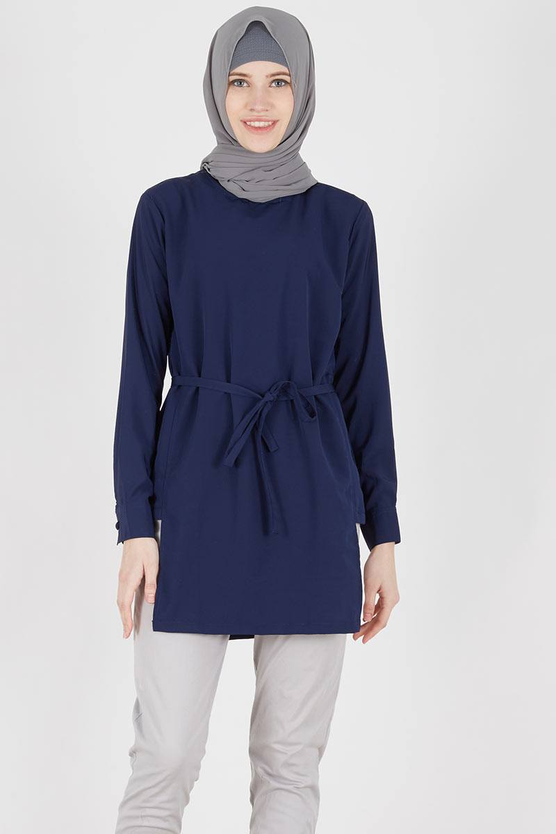 Navy Blouse Tops 44