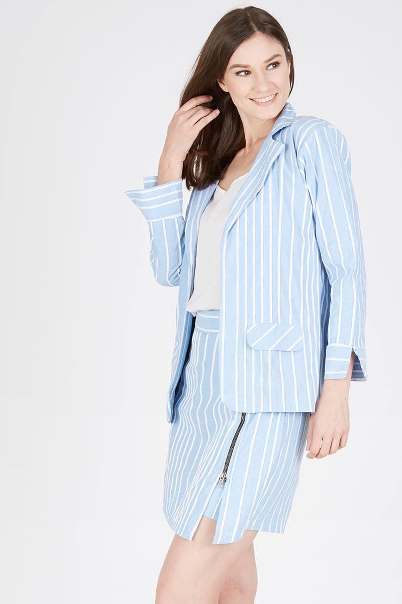 Harga Ginny Blue Blazer Produk Ukm Bumn Jaket Catenzo Fleece