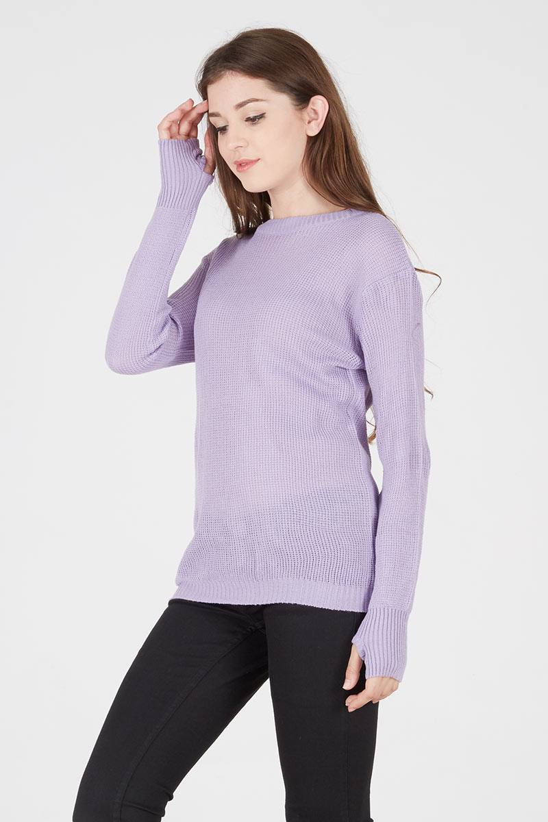 Harga Sabrina Thumb Sweater In Lavender Long Maroon Parka Sj0013
