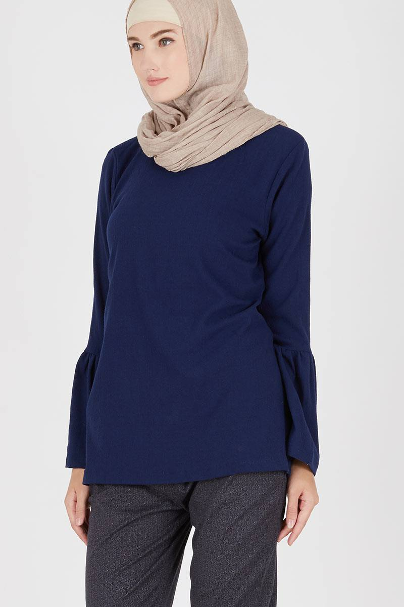 Navy Blouse Tops 71