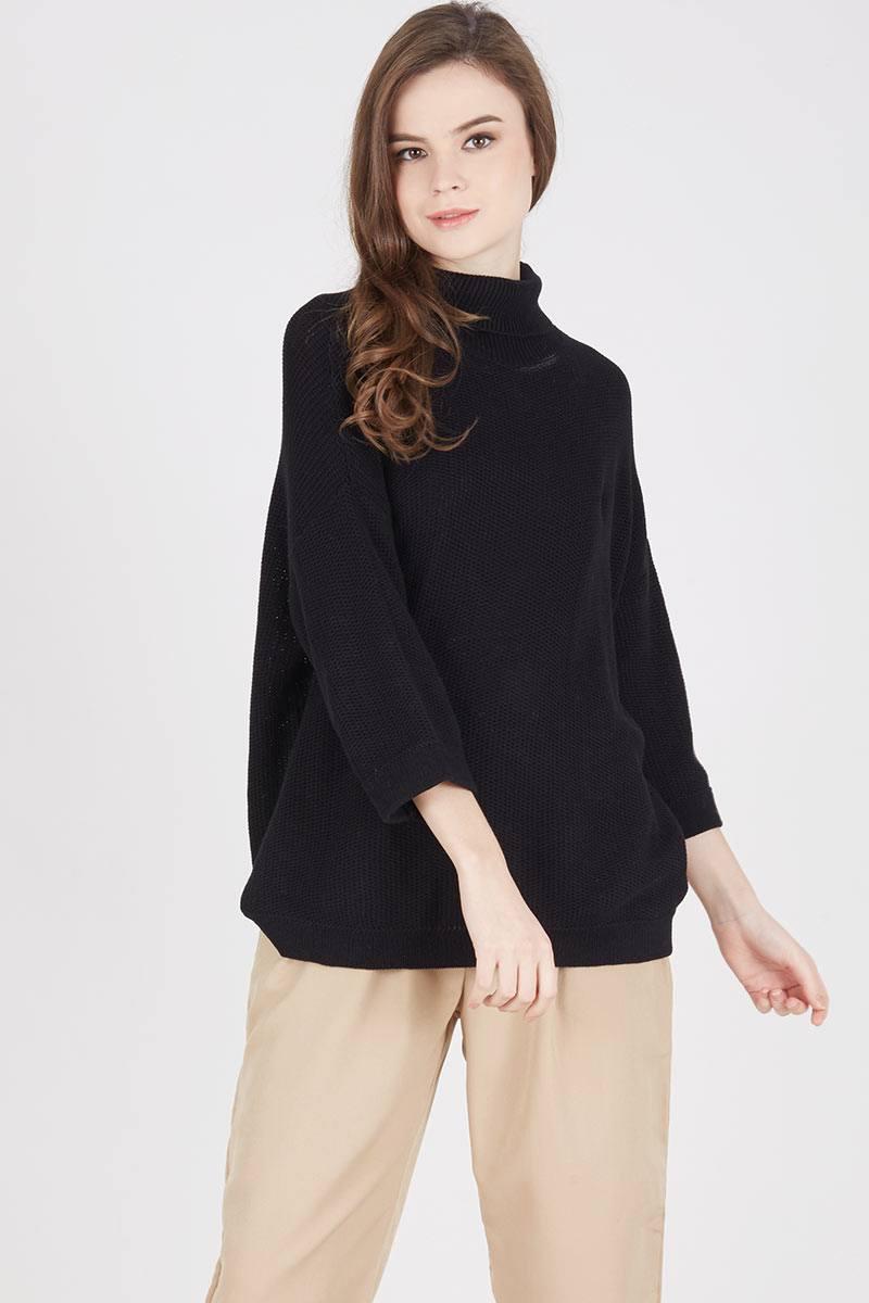 Harga Tiana Sweater Off White Long Maroon Parka Sj0013 Black